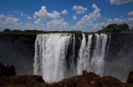 zimbabwe: Las Cataratas Victoria en Zimbabwe Foto de archivo