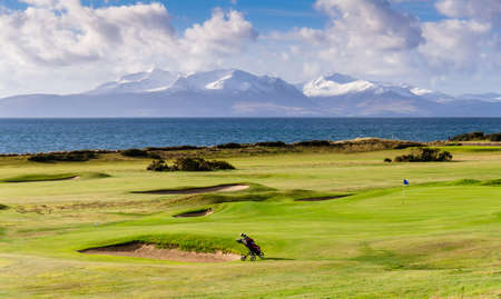 Portencross golf course in Scotland  Isle of Arran
