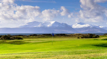 Portencross golf course in Scotland  Isle of Arran  photo