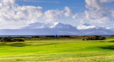 Portencross golf en Ecosse île d'Arran