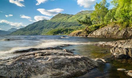 loch lomond: Long exposure in Loch Lomond in Scotland