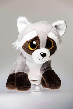 forgiving: Cute cuddly raccoon toy. Raccoon - small plush toy animal