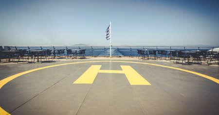 Helipad aka Landing Place for Helicopters on a Ship, Zakynthos Island, Greece