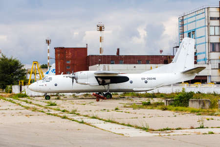 abandon: airplane graveyard in Moldavian airport, defected aircrafts Editorial