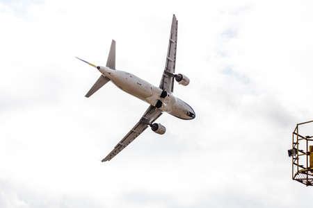 jet stream: avia show 25.09.2016 Moldova. International Moldavian airport air show on the occasion of national day of Civil Aviation.