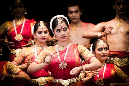 19 june 2015 Indian dance group on stage, Chisinau, Moldova