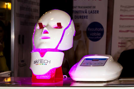 4 march 2018, skinTech led mask, at the exhibition in Moldexpo, Chisinau, Moldova Editorial
