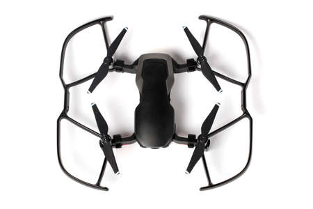 drone dji mavic air on white background, photo from above