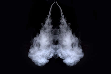 lungs of smoke on  black background