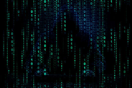 color binary code background image for hackers