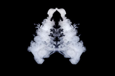 lungs of smoke on an isolated black background