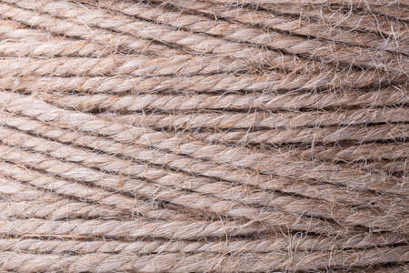 Natural jute rope, close-up background image