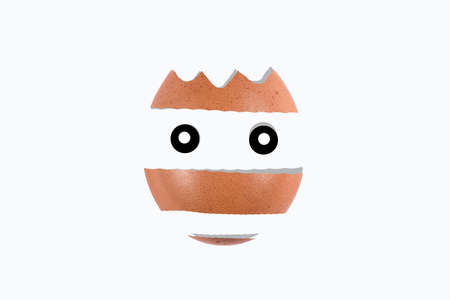 egg in the form of a knight's muzzle with a crown, background image
