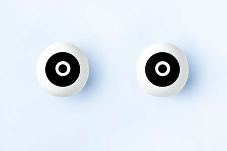 illustration of artificial eyes on a blue background Banque d'images - 117412788