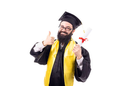graduate show thumb likes isolated on white background