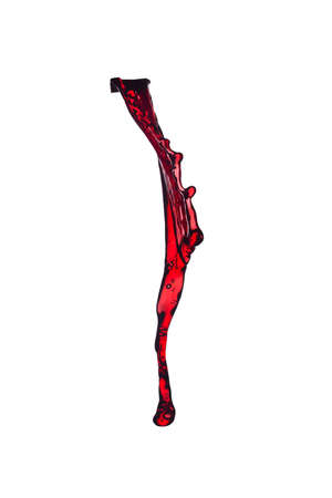 red wine splash, isolated on white background Stock Photo