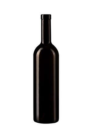 Weinflasche lokalisiert auf weißem Hintergrund Standard-Bild