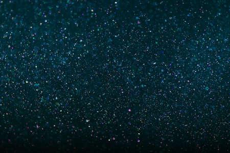 abstract dark blue Bokeh circles Christmas background, glitter light Defocused 写真素材