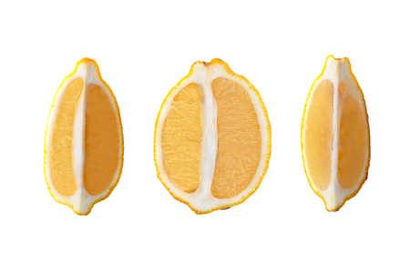 lemon fruit set isolated on white background. Clipping Path Imagens