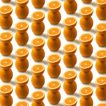 orange fruit pattern isolated on white background