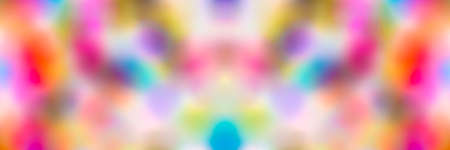 Abstract colorful background with bokeh effect, panoramic image 写真素材