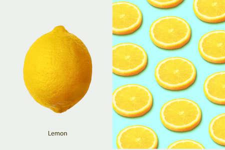 Creative layout made of   lemon
