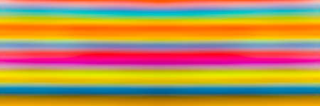 Blurred or defocused  multi colored lines, panoramic image