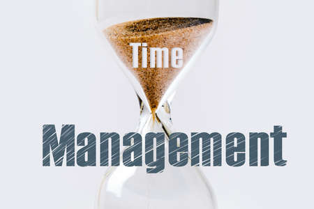 inscription time management over hourglass