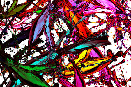Abstract colorful splash