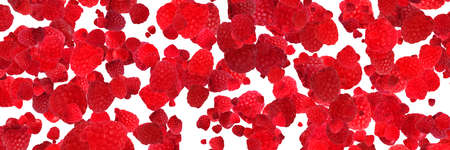 raspberry isolated on white 免版税图像 - 152977476