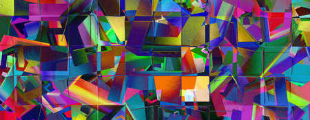 Colorful abstract   with geometric elements 免版税图像