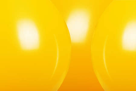 yellow balloons for party or birthday over yellow background