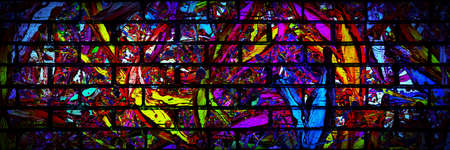 Grunge style colorful paint wall background, abstract urban background, street art, panoramic image