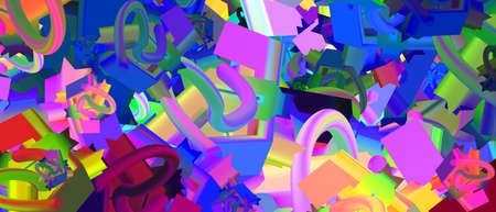 colorful abstract illustration background with geometric elements