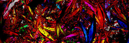 colored splashes in abstract shape, panoramic image
