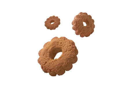 shortbread cookies isolated on white background 免版税图像