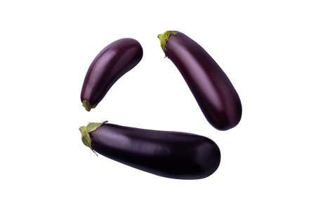 eggplant isolate on white background 免版税图像