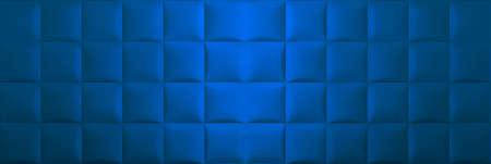 Blue geometric background with squares 免版税图像