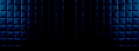 Blue geometric background with squares Standard-Bild - 161768221