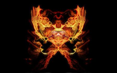 detonation: organic geometric color abstract illustration