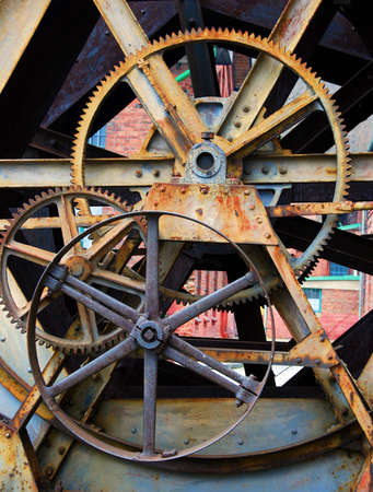 rackwheel: cog wheels machine industry background Stock Photo