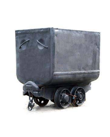 grizzle: old black coal mine waggon