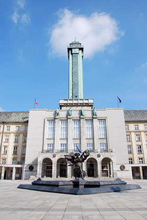 town hall square: Ostrava town hall square