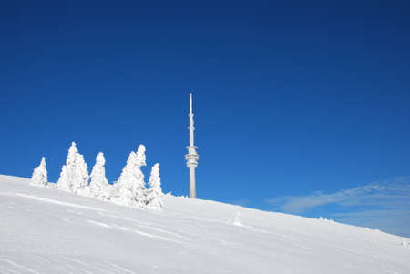 outpost: praded transmitter and outpost in jeseniky mountains czech republic