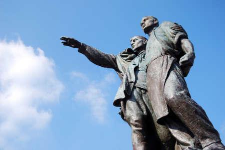 partisan: russian communism socialistic ideology statue
