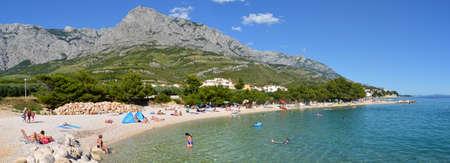panoramatic: Promajna sunny beach in Croatia Editorial