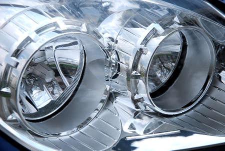 chrome: chrome head lamp of new car