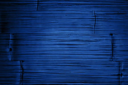 Classic blue 2020 color toned board wood texture. Stock Photo