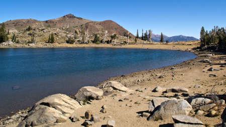 sierras: Sierra Nevadas Frog Lake in a summer September morning Stock Photo