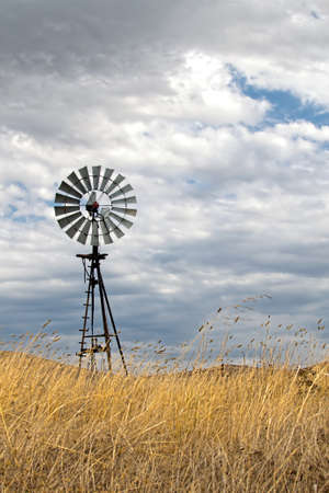 central california: Vintage Wind Mill in Central California